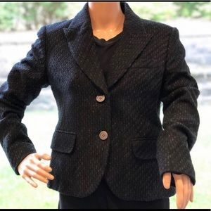 Michael Kors wool/mix Black/silver blazer jacket 8